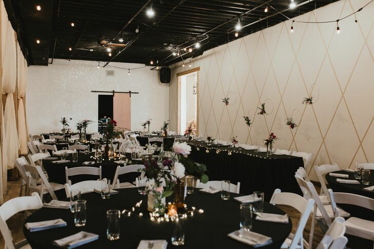 Modern Reception at Vintage Ballroom in Omaha, Nebraska
