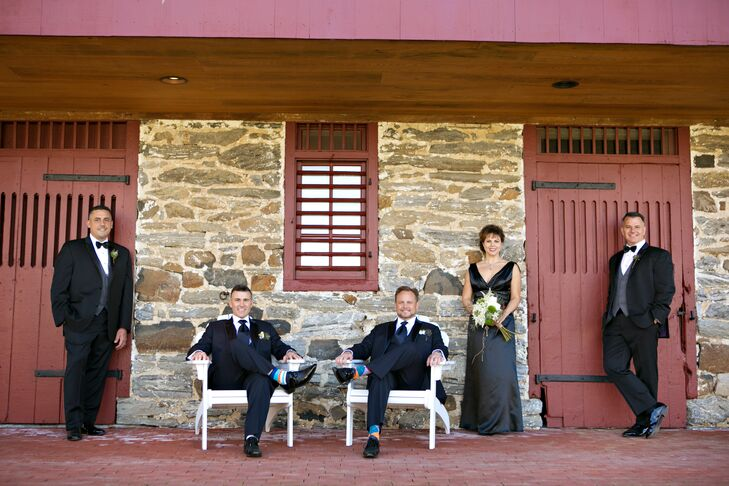 All-Black and Navy Wedding Party