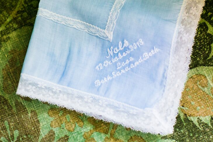Baby Blue Embroidered Handkerchief