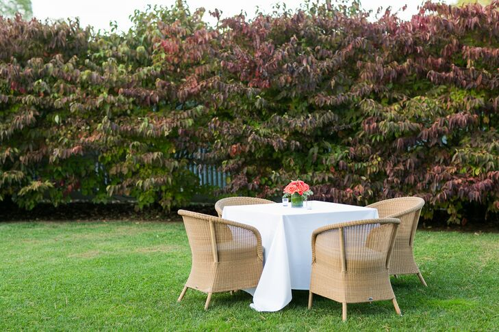 Outdoor Cocktail Hour With Rattan Chair Seating