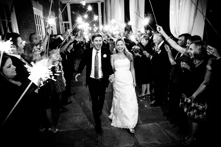 Sparkler Reception Exit at Highlands Country Club