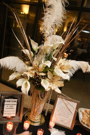Glamorous Art-Deco-Inspired Centerpieces