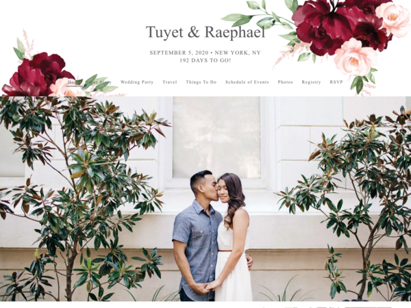 Beloved Floral Wedding Website Template, The Knot
