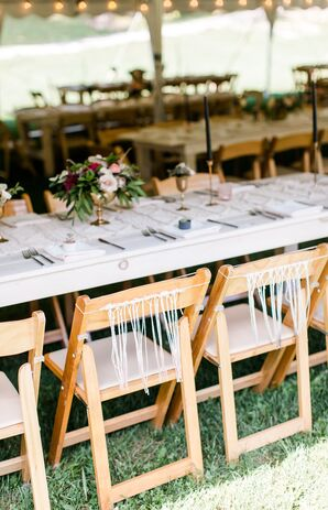 Sweetheart Folding Chairs with Fringe