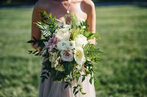 Large Boho Bouquet with Ferns and Roses