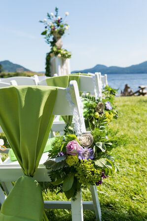 Green Floral Aisle Decorations