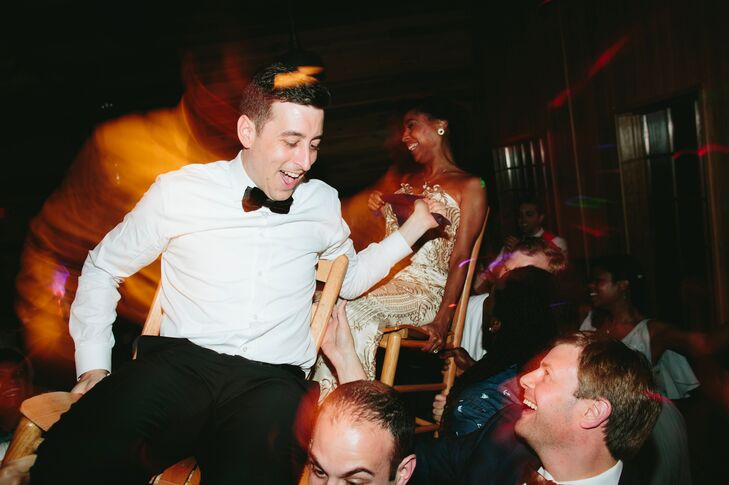 Abbie and Mark incorporated several elements of their faiths in the day, including dancing the hora to honor Mark's Jewish heritage.