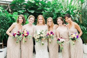 Adrianna Papell Beaded Blouson Bridesmaid Dresses