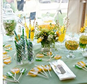 Yellow and Green Candy Bar