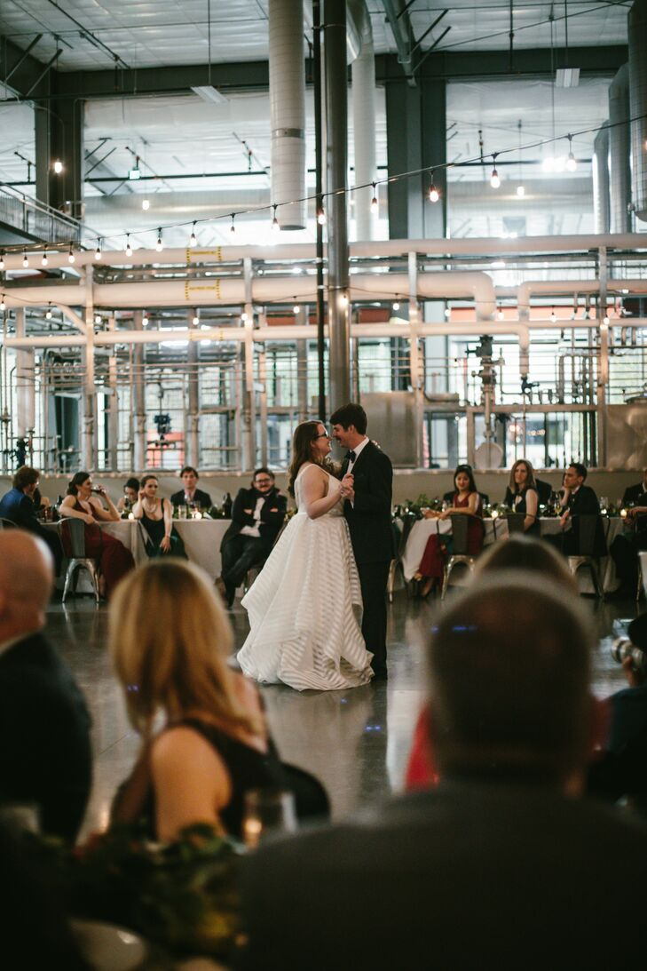 Bride and Groom First Dance at Great Divide Barrel Bar