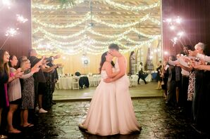 Romantic Sparkler Send-off at The Farm at Brusharbor in Concord, North Carolina