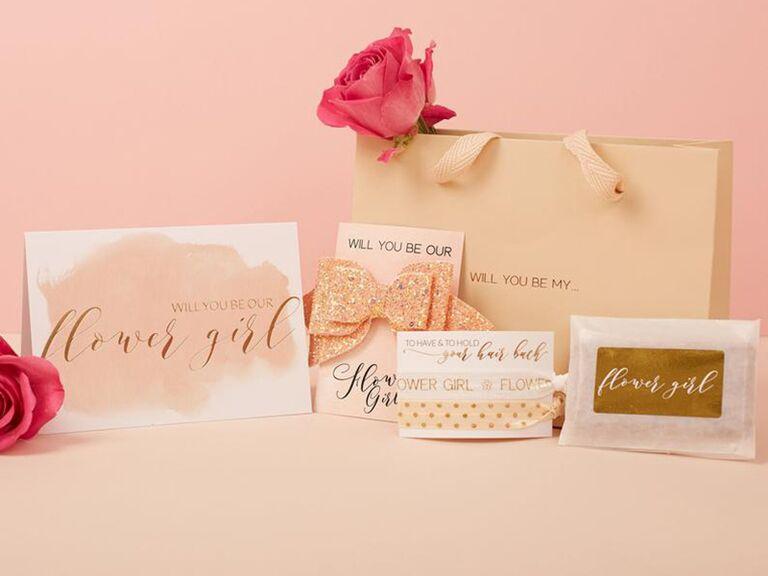 Girly flower gift set