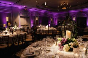 Ballroom Reception with Purple Uplighting at the Ritz-Carlton