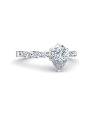 Gemvara - Customized Engagement Rings Pear Cut Engagement Ring