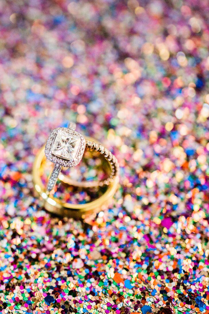 Princess-Cut Halo Engagement Ring