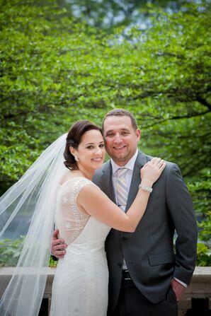 White Pronovias Wedding Dress With Illusion Back