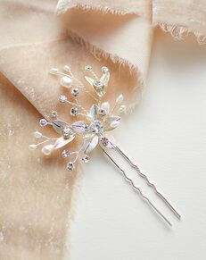 Dareth Colburn Antonia Leaf Hair Pin (TP-2825) Silver Pins, Combs + Clip