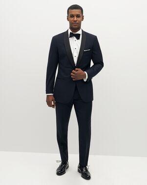 Suit Shop Men's Premium Shawl Lapel Navy Tuxedo Blue Tuxedo