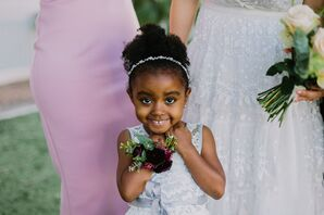 Flower Girl with Corsage and Updo