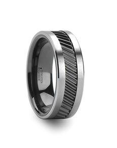 Mens Tungsten Wedding Bands W626-CGTC Tungsten Wedding Ring