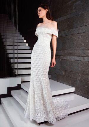 Tony Ward for Kleinfeld Coral Sheath Wedding Dress