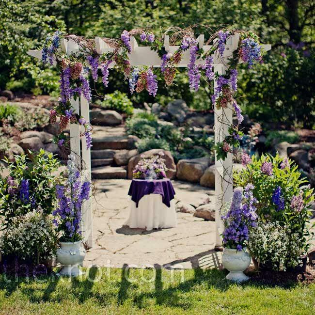 Rustic Wedding Arbors: A Rustic Outdoor Wedding In Hartland, MI