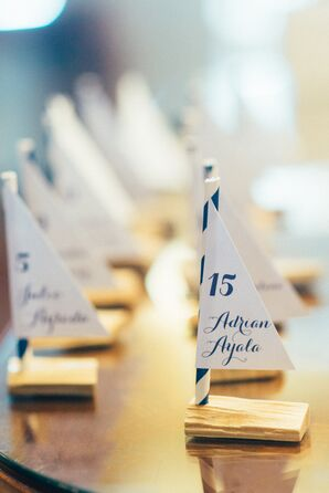 Miniature Sailboat Escort Cards