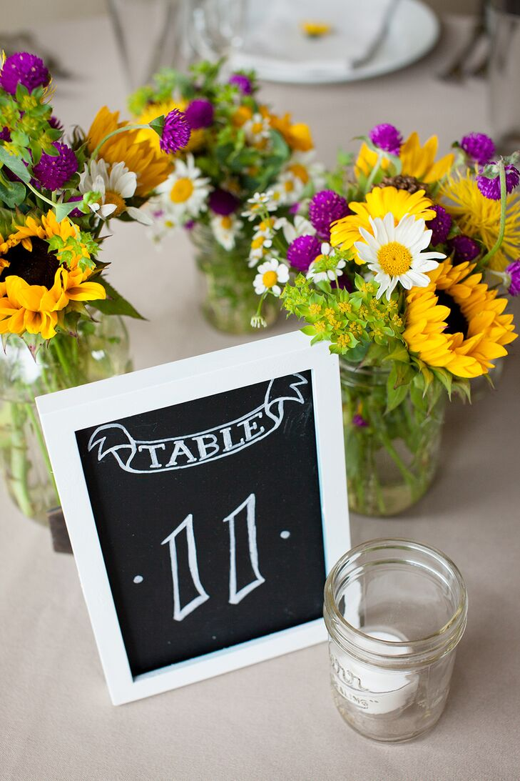 DIY Chalk Paint Casual Table Numbers with Texas Wildflowers