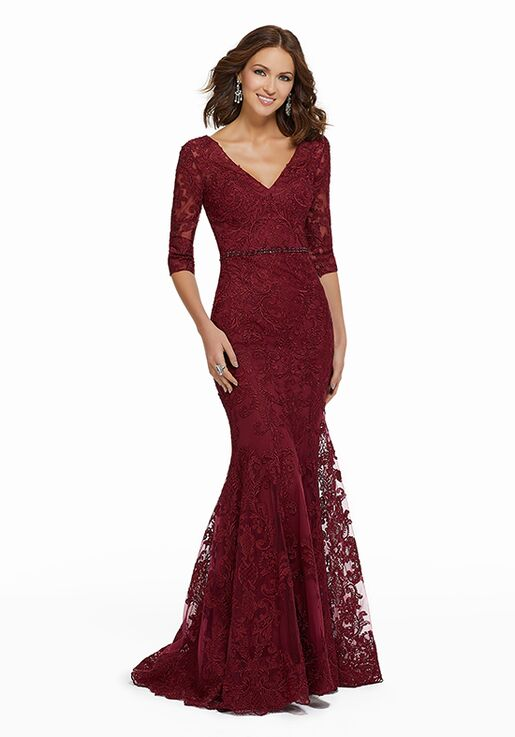 MGNY 72009 Red Mother Of The Bride Dress