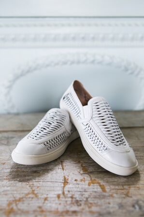 Woven White Sneakers