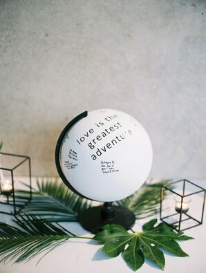 Painted Globe Guest Book Alternative