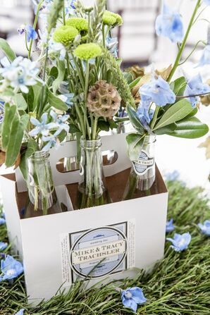 Wildflower Bottle Centerpieces
