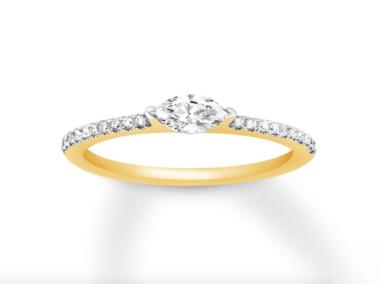 Kay marquise diamond engagement ring in 14K yellow gold