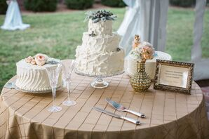 Rustic Textured Buttercream Wedding Cakes