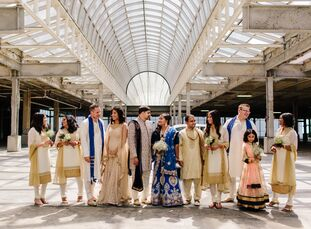 For their wedding, Shreya Rao (32 and an event manager) and Nevin Arora (35 and works in marketing) took décor inspiration from the art and history of
