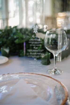 Engraved Glass Menus