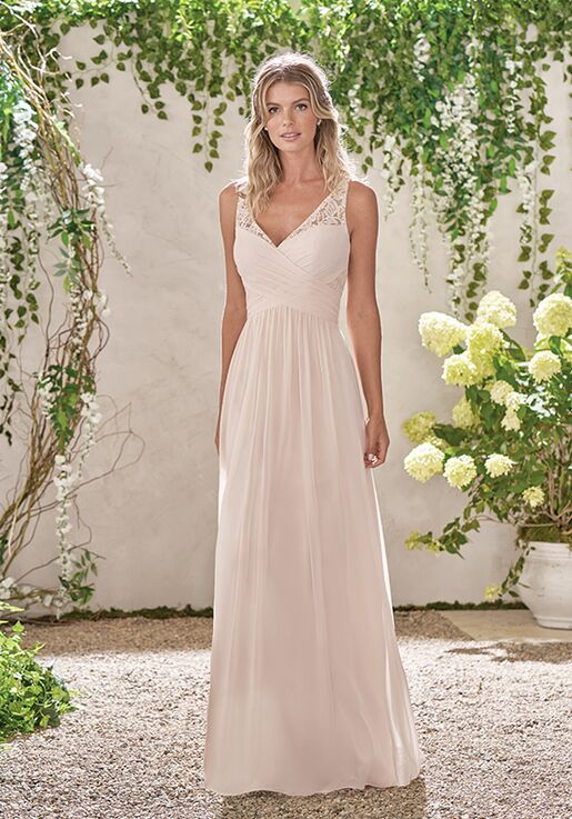 B2 By Jasmine B193001 V Neck Bridesmaid Dress