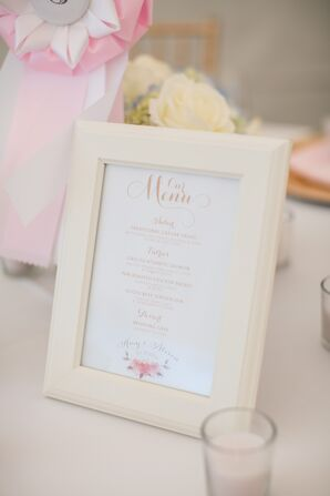 Whimsical Gold Menu Card