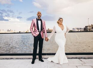 "Lauren Beamon (36 and an event planner) and Tarik Dickens' (46 and a real estate investor) love story is the stuff of rom-coms. ""We were walking down"
