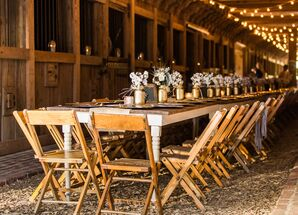 Rustic Reception with Wood and Gold Accents