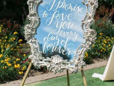 Wedding sign mirror