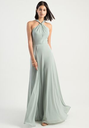 Jenny Yoo Collection (Maids) Halle Halter Bridesmaid Dress