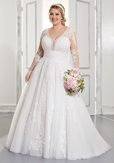 bride sitting in wedding dress