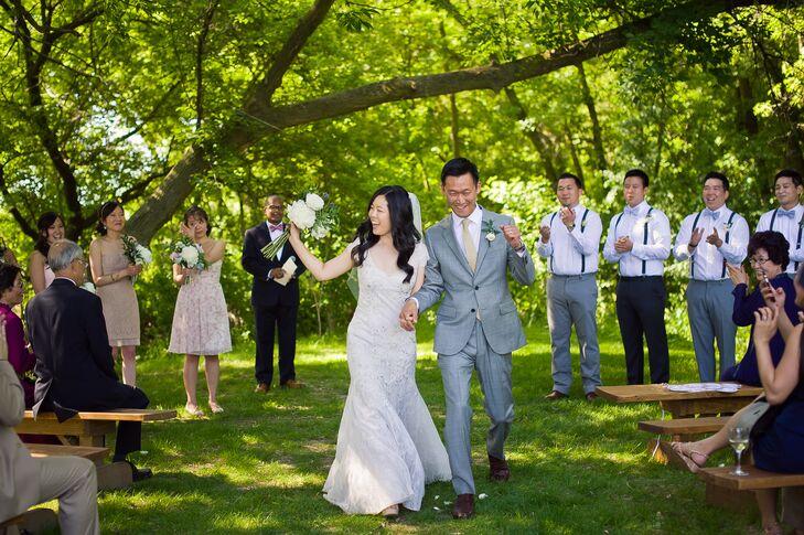 Ivory Lace Liancarlo Wedding Dress