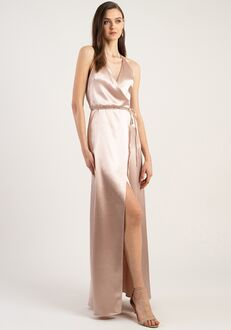 Jenny Yoo Collection (Maids) Lana V-Neck Bridesmaid Dress