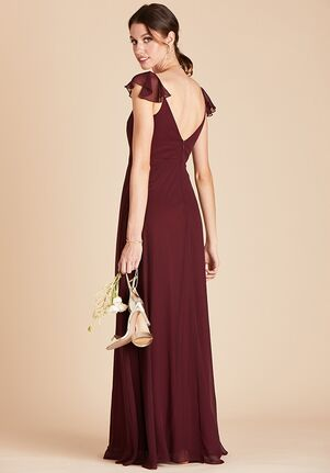 Birdy Grey Kae Bridesmaid Dress in Cabernet V-Neck Bridesmaid Dress