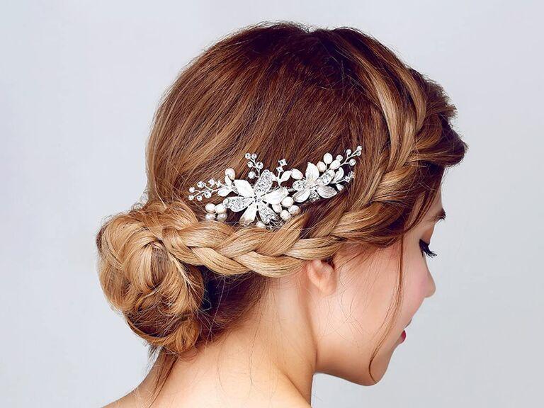 Rhinestone bridal comb