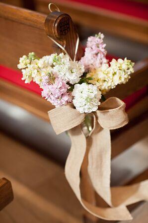 Springy Pew Decorations