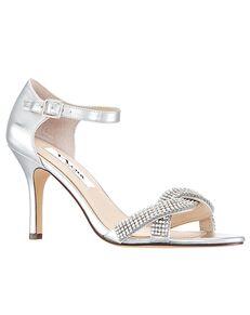 Nina Bridal Valency Silver Shoe