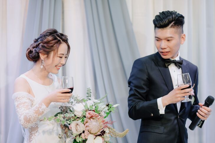 Classic Toast by Bride and Groom